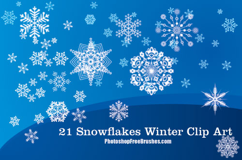 winter clip art photoshop brushes