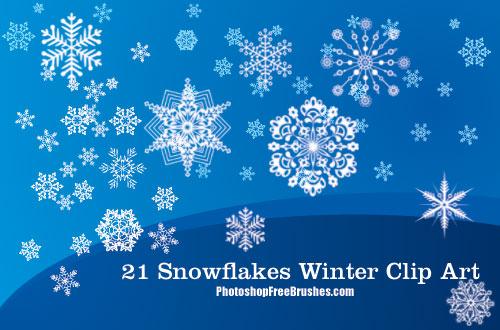 winter clip art photoshop brushes