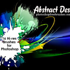 16 Abstract Designs Photoshop Brushes