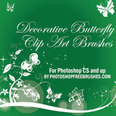 24 Decorative Butterfly Photoshop Brushes