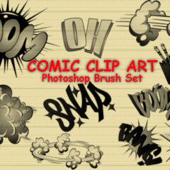 14 Comic Cartoon Photoshop Brushes