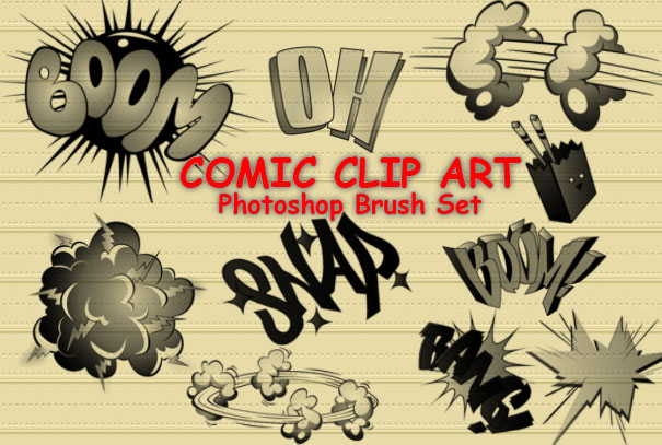 comic cartoon photoshop brushes