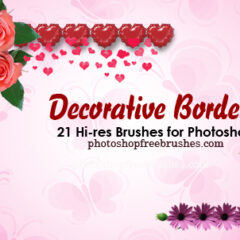 20 Decorative Borders Photoshop Brushes