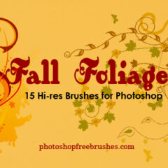15 Fall Foliage Photoshop Brushes
