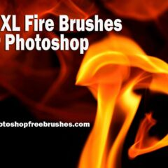 17 Extra Large Fire Background Photoshop Brushes Part 2