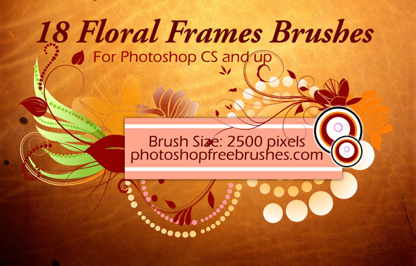 floral frames Photoshop brushes