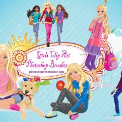 17 Girl Clip Art Photoshop Brushes