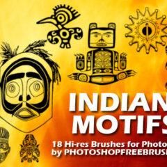 Indian Motifs Photoshop Brushes