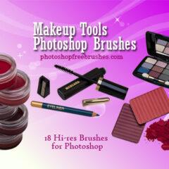 18 Makeup Tools Photoshop Brushes