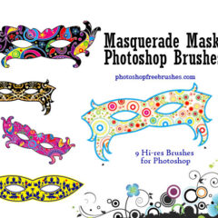 High-Res Masquerade Masks Photoshop Brushes