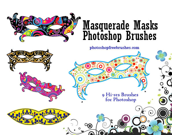 masquerade masks photoshop brushes