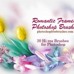 20 Romantic Photo Frames Photoshop Brushes