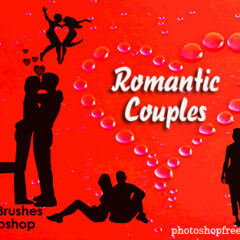 Valentine Clip Art Photoshop Brushes VII: Romantic Couples