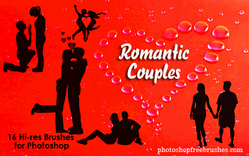 romantic couples photoshop brushes