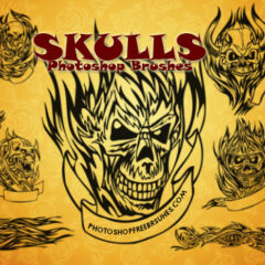 13 Flaming Skull Tattoos You Can Use As Photoshop Brushes