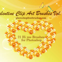 Valentine Clip Art Volume II: 21 Photoshop Heart Brushes