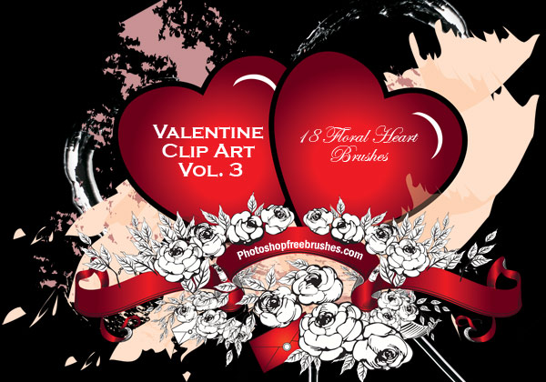 valentine clip art photoshop brushes