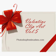 Valentine Clip Art V: 15 Hearts, Love Notes Photoshop Brushes