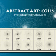 Abstract Art Photoshop Brushes: Coil