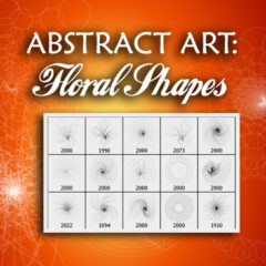Abstract Art Photoshop Brushes: Floral Shapes
