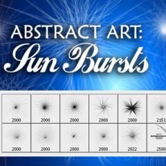 Abstract Art Photoshop Brushes: Sun Bursts