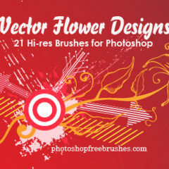 21 Vector Flower Designs as Photoshop Brushes