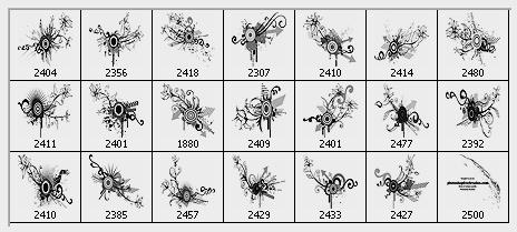vector flower designs photoshop brushes