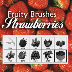 Fresh Strawberry Pictures Photoshop Brushes