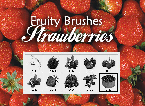 strawberry pictures photoshop brushes