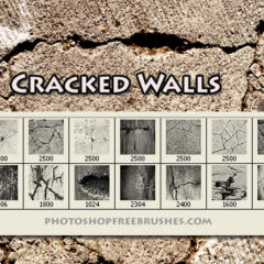 14 Hi-Res Cracked Wall Photoshop Brushes