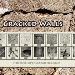 14 Hi-Res Cracked Wall Photoshop Brushes