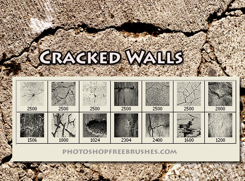 cracked wall Photoshop brushes