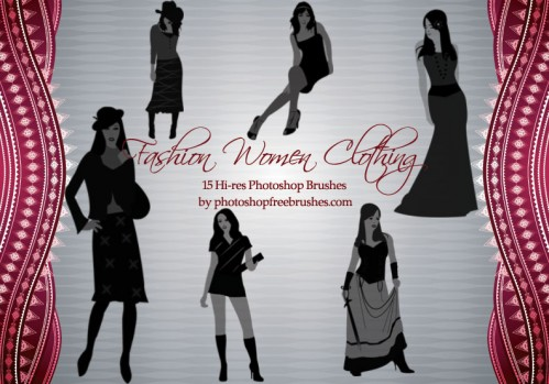 fashion women clothing Photoshop brushes
