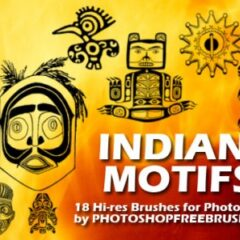 18 Hi-Res Photoshop Brushes: Indian Motifs