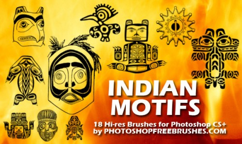 indian motifs photoshop brushes