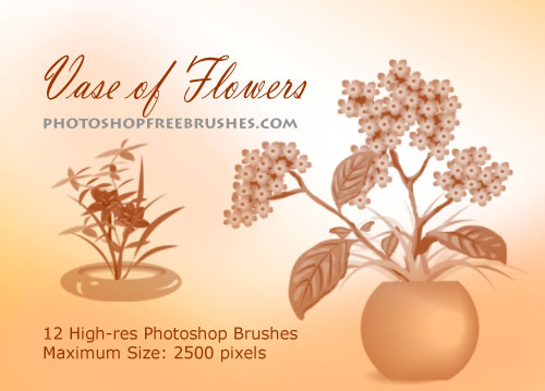 vase with flowers photoshop brushes