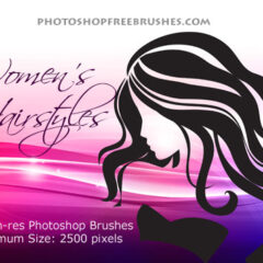 18 Woman Hair Photoshop Brushes