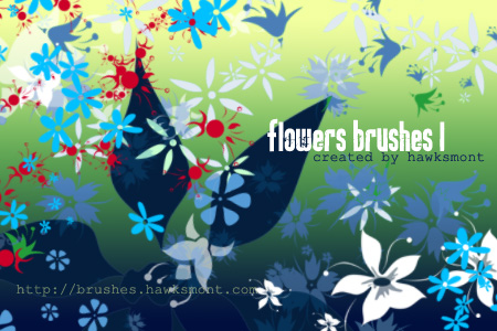 free flower photoshop brushes