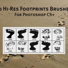 10 Hi-Res Footprints Photoshop Brushes