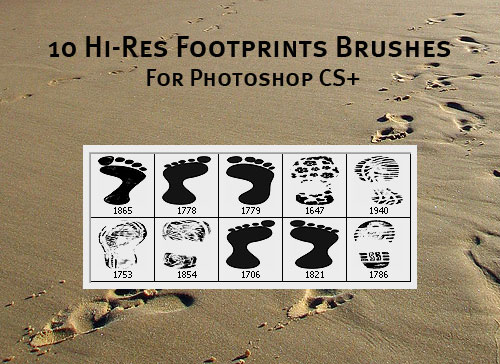 footprints photoshop brushes