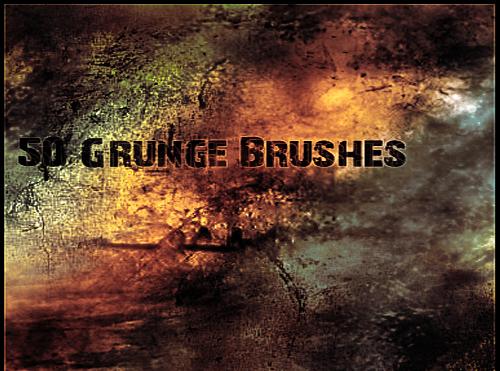 grunge photoshop brushes