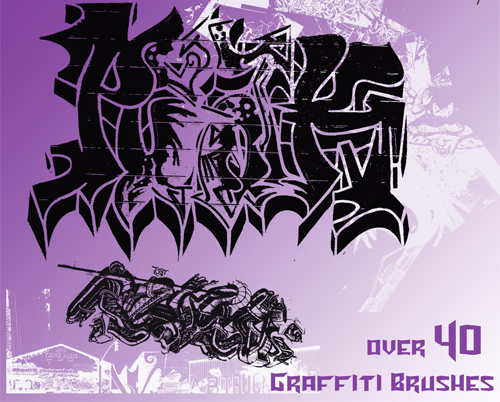 Graffiti Photoshop Brushes