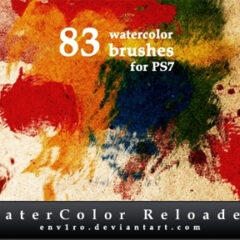 500+ Watercolor Photoshop Brushes for Artistic Compositions