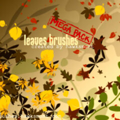 200+ Leaves Photoshop Brushes for Autumn-Themed Designs
