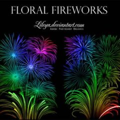 16 Sets of Beautiful Fireworks Photoshop Brushes