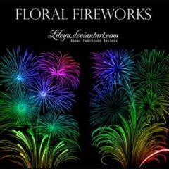 16 Sets of Beautiful Fireworks Photoshop Brushes