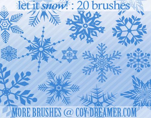 christmas photoshop brushes