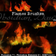 500+ Awesome Flames and Fire Photoshop Brushes
