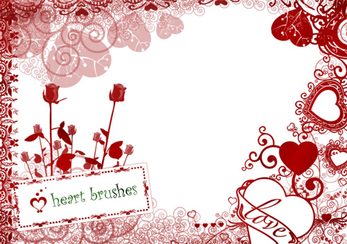 hearts brushes