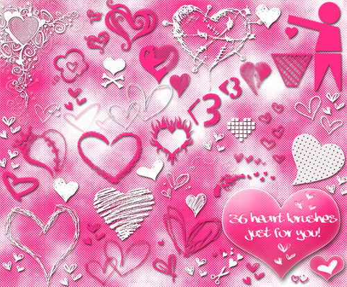 heart photoshop brushes